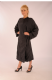 Full Length Salon gown - Popper - Black